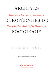 European Journal of Sociology